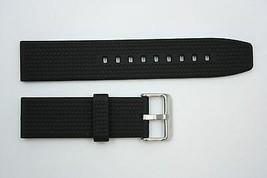 22mm Trenzado Pesado Italiano Caucho Negro Correa para Reloj de Pulsera Luminox - $22.74