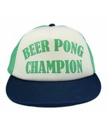 Beer Pong Champion snapback hat trucker mesh cap St Patricks Day green b... - $19.69