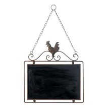 Metal Wall Decor, Rooster Chalkboard Rustic Metal Wall Decor For Living ... - $24.99