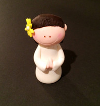 First communion girl cake topper - $23.00
