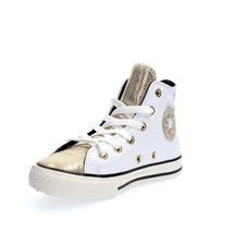 Converse Zip Leather Trainers Zip Leather Womens Shoes White Gold 5,5 UK... - $60.67