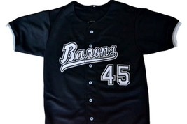 Michael jordan  45 birmingham barons button down baseball jersey black 1 thumb200