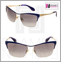 MIU MIU So Metal 50P Cat eye Sunglasses NAE-3M1 Gold Blue Gradient MU50PS - $244.53