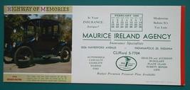 INK BLOTTER AD FEB 1959 Maurice Ireland Co. Indiana &1918 Detroit Electr... - $4.49