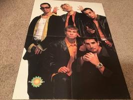 Backstreet Boys Hanson teen magazine poster clipping by a blue wall