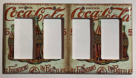 5 Cents Coke Bottles Old Poster Light Switch Outlet Wall Cover Plate Home Decor image 5