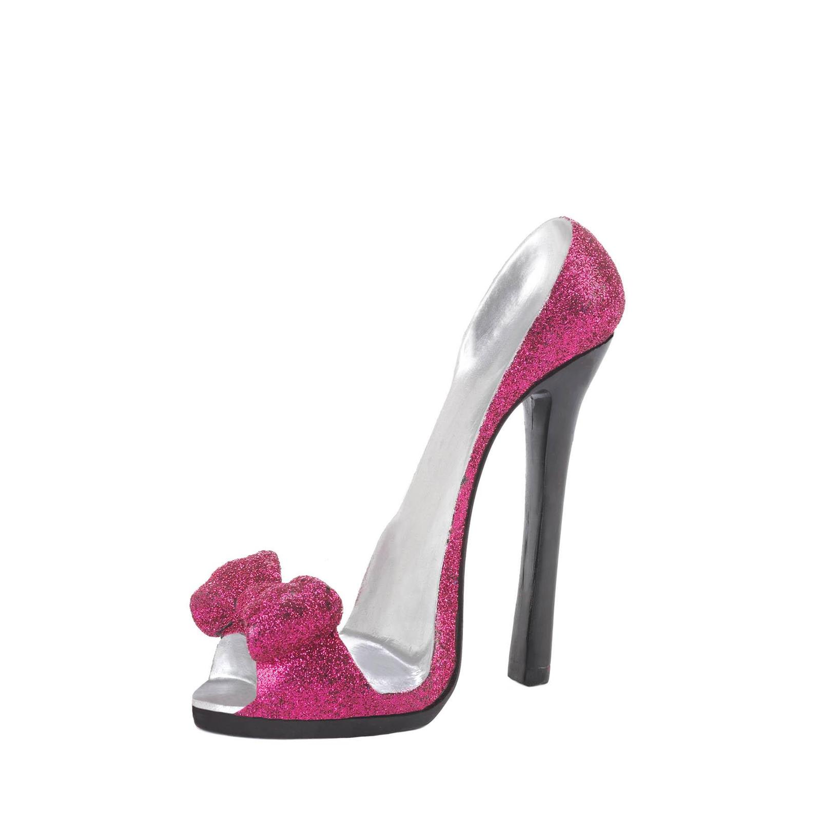 PINK BOW SHOE PHONE HOLDER Chic High Heel Mobile Cell Stand Gift