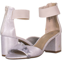 White Mountain Evie Criss Crossed Ankle Strap Sandals, Silver 512, Silve... - $31.67