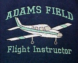 Flight Instructor Sweatshirt L Personalized Airplane Aircraft Navy Crew ... - $29.37