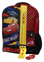 NEW Cars High Speed #7 16 Kids' Backpack, Black 52001396 INCLUDES CAR