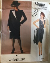 Vogue 1233 Misses' Designer Original Jacket, Skirt & Top by Valentino  S... - $17.99
