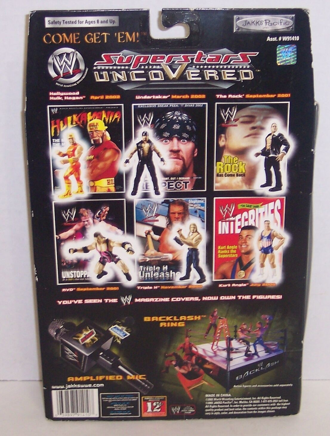 "New! 2002 Jakk's Superstars uncoVered ""The Rock"" Action Figure WWF WWE [786] image 2"