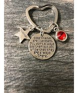 * Personalized Best Friends Birthstone Charm Keychain- Custom Good Frien... - $12.50