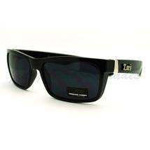Super Black Locs Sunglasses Mens Rectangular Frame Hardcore Shades - $9.80