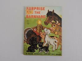Surprise in the Barnyard Vintage Junior Elf Book 1952 Rand McNally Kids ... - $5.72