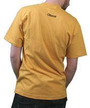 Orisue Mens Gold Yellow White Carpe Diem Union Working Industry T-Shirt NWT image 3
