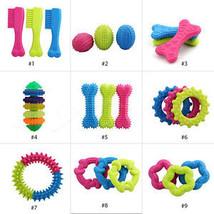 Pet Dog Puppy Cat Rubber Dental Teeth Chew Bone Play Training Fetch Fun Toys Hot - $6.16