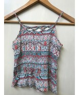 Full Tilt Women Multicolor Strappy Back Crinkle Tank Top Medium - $9.95