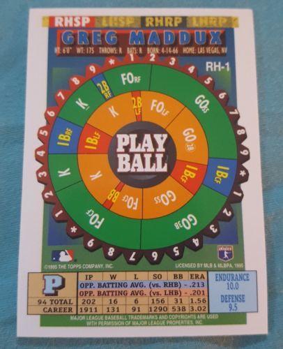 1995 Topps Bazooka Red Hot #RH-1 Greg Maddux Atlanta Braves Baseball Card