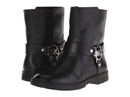 Michael Kors Fulton Black Biker Bootie Women Si... - $86.45
