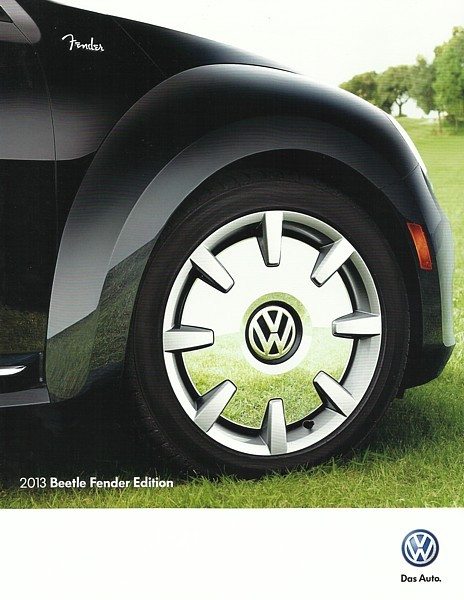 2013 Volkswagen BEETLE FENDER EDITION brochure catalog folder US 13 VW Turbo