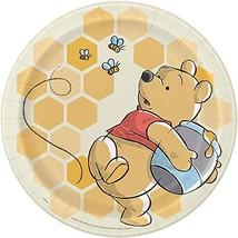 Unique Disney Winnie the Pooh Round Dinner Plates - 8 Pcs, Multicolor, O... - $10.84