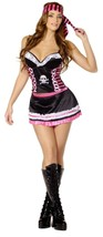 Caribbean Pirate costume for women size Large plus stockings for Halloween - $19.75