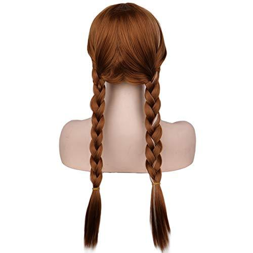 BARSDAR 22'' Double Long Braided wigs Full Head for Cosplay Halloween Daily Use.