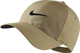 New! Khaki/Black Nike Men-Women's Golf Tech Swoosh Cap By Nikegolf - $44.43