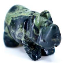 Kambaba Jasper Gemstone Miniature Rhinoceros Rhino Figurine Hand Carved in China image 5