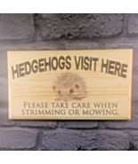 Large Hedgehogs Visit Here Plaque / Sign - Take Care Garden Grass Home Shed - $21.04