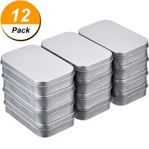 Shappy 12 Pack 3.75 by 2.45 by 0.8 Inch Silver Metal Rectangular Empty H... - $15.04