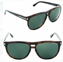 Tom Ford LENNON Amber Havana / Green Sunglasses TF288 52F 57mm - $185.22