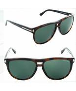 Tom Ford LENNON Amber Havana / Green Sunglasses TF288 52F 57mm - $185.22