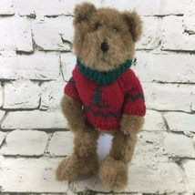 "Boyds Collection 10"" Teddy Bear Plush In Pine Tree Sweater Collectible V... - $14.84"
