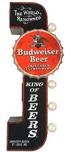 Budweiser Reproduction Vintage Advertising Sign - Battery Powered LED Li... - $52.46