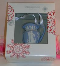 New Wedgwood Blue & White Jaspeware Iconic Pitcher Christmas Tree Orname... - $34.19