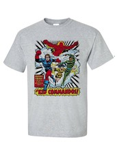 The Invaders Kid Commandos T-shirt vintage 1970's marvel comics silver age tee image 1