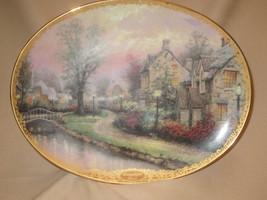 LAMPLIGHT LANE collector plate THOMAS KINKADE Lamplight Village BRADFORD - $14.99