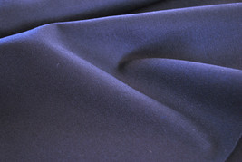 Very heavy wool material by the metre or yard in plain navy blue 100% Wool