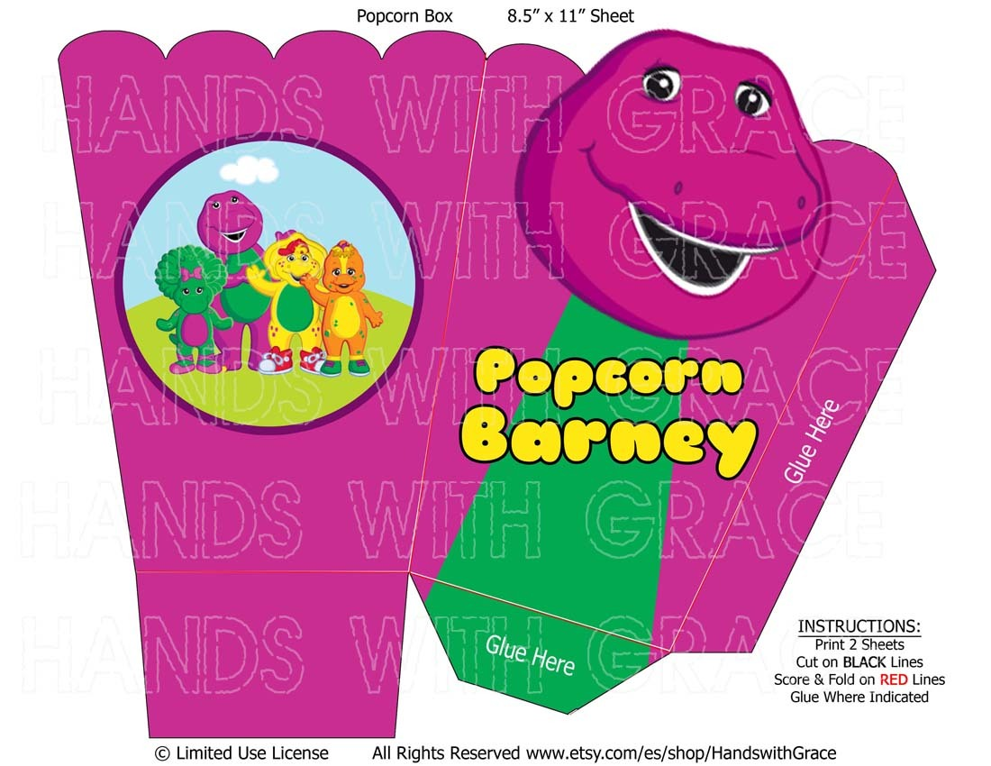 picture relating to Printable Popcorn Boxes called Printable Popcorn Box For Celebration \