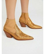 Free People Womens Jackson West OB690855 Boots Pointed Gold Size US 7 - $66.53