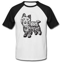 Cairn terrier b - NEW COTTON BASEBALL TSHIRT - $19.53