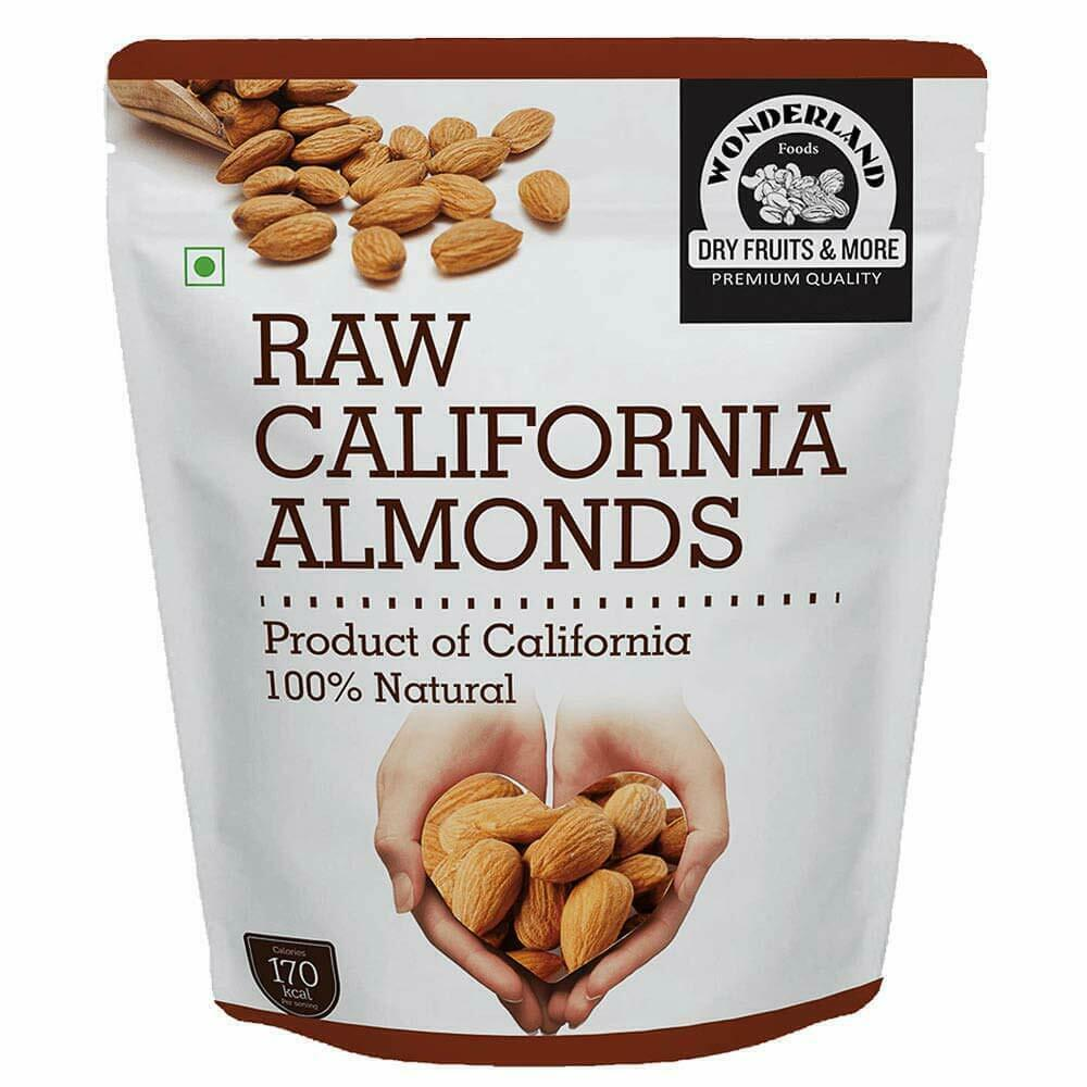 Wonderland Foods California Raw Almonds (1Kg) image 1