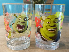 (2) Mcdonalds 2007 Shrek The Third Glasses - Babies - Donkey-Shrek- Exce... - $15.20