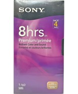 SONY Premium VHS 8 Hour T160VR Tapes 4-pack - $44.55
