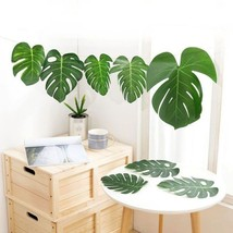 Artificial Large Plant Leaves Tropical Palm Leaves for Home Decor Simula... - $11.93 CAD