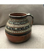 Vintage Mexican Tlaquepaque Tonala Ceramic Pottery Folk Art Spoutless Pitcher - $140.00