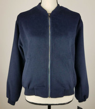Frnch French Womens Jacket S/M Floral Embroidered Zip Up Cardigan Blue B... - $14.42