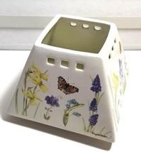 Hallmark Marjolein Bastin Lamp Shade Jar Candle Topper Flowers, Butterflies - $14.50